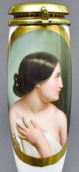 Christoph Preisel (1818-1877), Jungfräulichkeit, Porzellanmalerei, Pfeifenkopf, B0050