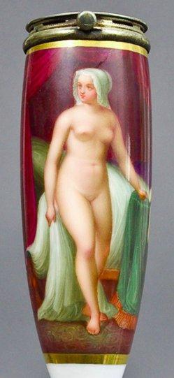 Jakob Becker (Becker von Worms), Weiblicher Akt, Porzellanmalerei, Pfeifenkopf, B0071