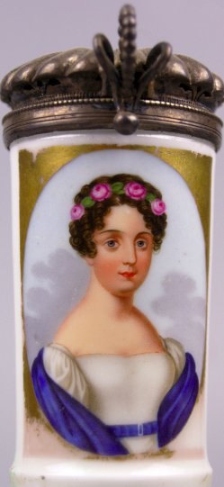 Paul Ernst Gebauer, (1782-1865), Elisabeth, Porzellanmalerei, Pfeifenkopf, D0944