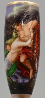 Christian Heinrich Hanson, Der Fischer, Porzellanmalerei, Pfeifenkopf, D1251