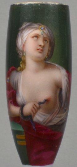Domenichino (1581-1641), Cleopatra, Porzellanmalerei, Pfeifenkopf, D1519