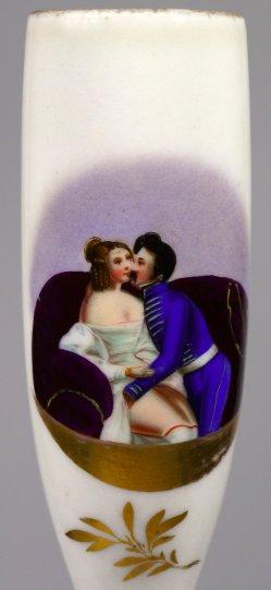 Sofa-Vergnügen, Erotik, Porzellanmalerei, Pfeifenkopf, D1538