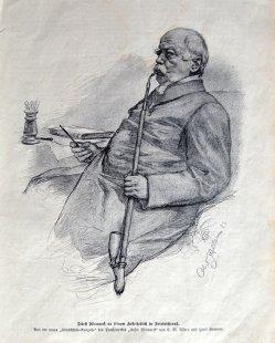 Christian Wilhelm Allers (1857-1915), Fürst Bismarck, Zeichnung 1893, D1657