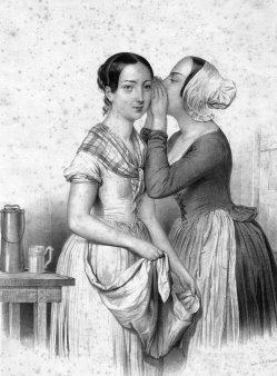 Johann Stadler (1804-1859), Das Geheimnis, Lithographie, D1726