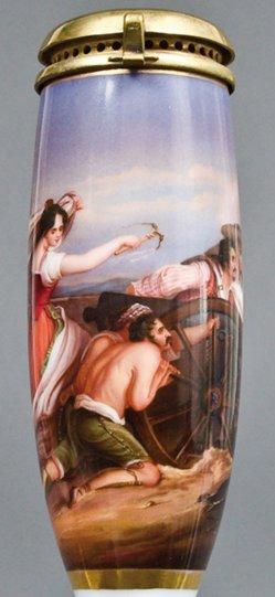 Sir David Wilkie (1785-1842), Mädchen von Saragossa, Porzellanmalerei, Pfeifenkopf, B0022