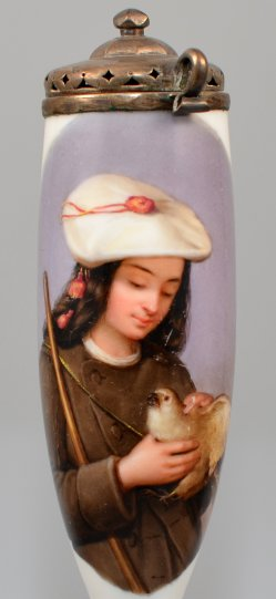 Junger Falkner, Porzellanmalerei, Pfeifenkopf, D0914