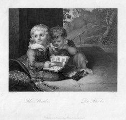 Albert Henry Payne (1812-1902), Die Brüder nach Vogel, Stahlstich, D1202