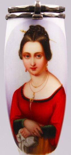 Wilhelm von Schadow (1788-1862), Fortunate, Porzellanmalerei, Pfeifenkopf, D1557