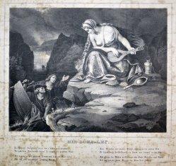 J.N.Ludwig, Die Lore-Ley, Lithographie, nach Begas d. Ä, D1597