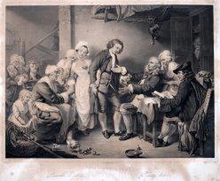 "Jean Baptiste Greuze (1725 – 1805), ""Die Dorfbraut"" Lithographie um 1840, D1791"