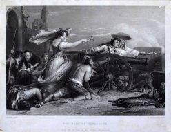 William Greatbach (1802-1885), The Maid of Saragossa, Stahlstich nach Sir David Wilkie, D1793