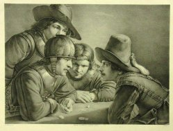 Ferdinand von Piloty (1786-1844) Die Würfelspieler, A0053