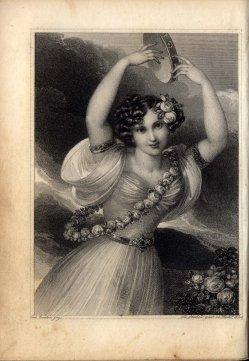 Franz Xaver Stöber (1795-1858), Tamburinspiel, Stahlstich nach J. N. Ender, A0056