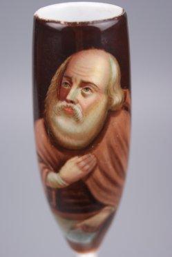 Petrus, Porzellanmalerei, Pfeifenkopf, D1121