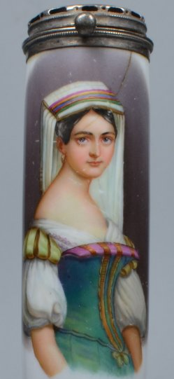 Römerin um 1850, Porzellanmalerei, Pfeifenkopf, D2030