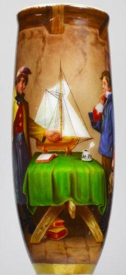 Rudolf Jordan (1810-1887), Lotsenexamen, Porzellanmalerei, Pfeifenkopf, D2020
