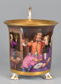 Gabriel Metsu (1629-1667), Metzu und seine Frau, Porzellanmalerei, Tasse, D2014