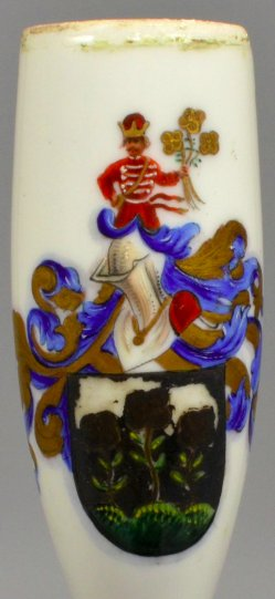 Wappen Familie Deschner, Porzellanmalerei, Pfeifenkopf, D1713