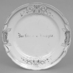 Buckauer Porzellanmanufaktur, Kuchenschale um 1886, D0399-015-00