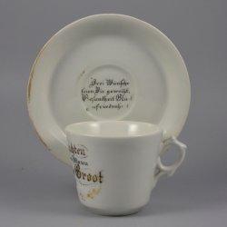 Buckauer Porzellanmanufaktur, Tasse und Untertasse 1897, D0613-119-00