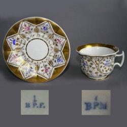 Buckauer Porzellanmanufaktur, Tasse und Untertasse um 1840, D0577-102-00