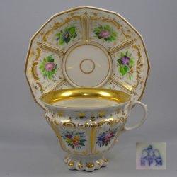 Buckauer Porzellanmanufaktur, Tasse und Untertasse um 1850, D0673-012-00