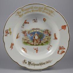 Buckauer Porzellanmanufaktur, Tiefer Kinderteller 1905, D0534-034-30