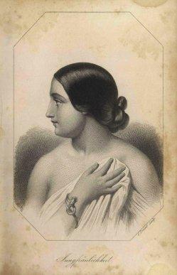 Christoph Preisel (1818-1877), Stahlstich, Jungfräulichkeit, A0086