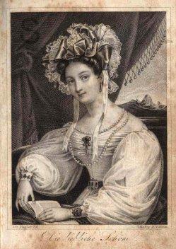 Ignaz Krepp (1801-1853), Kupferstich, Die liebliche Schöne, nach Mezler, A0065