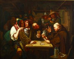 Karl Schorn (1803-1850), Gemälde, Kartenspieler (Variante 2)