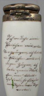 Rauchergedanken 1842, Porzellanmalerei, Pfeifenkopf, D1674