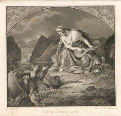 Timothy Stansfield Engleheart (1803-1879), Stahlstich, Die Lorelei, nach Begas, A0072