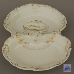 Buckauer Porzellanmanufaktur, Cabaret, zweipassig um 1860, D0903-254-00