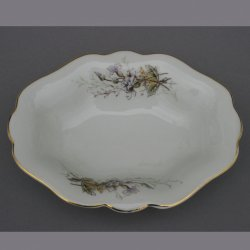 Buckauer Porzellanmanufaktur, ovale Schale 1890-1926, D0779-207-24