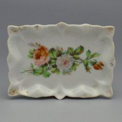 Buckauer Porzellanmanufaktur, Rechteck-Schale um 1900, D0828-226-29