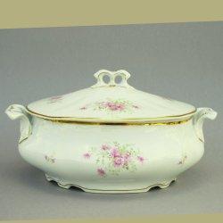 Buckauer Porzellanmanufaktur, Terrine klein mit Deckel um 1895, D0783-217-26