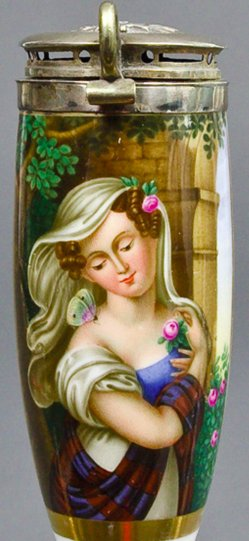 Carl Joseph Agricola (1779-1882), Psyche, Porzellanmalerei, Pfeifenkopf, B0056