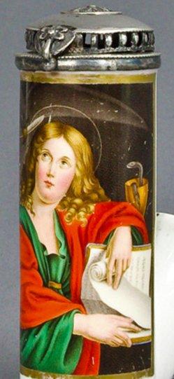 Domenico Zampieri, gen. Domenichino (1581-1641), Heiliger Johannes, Porzellanmalerei, Pfeifenkopf, B0109