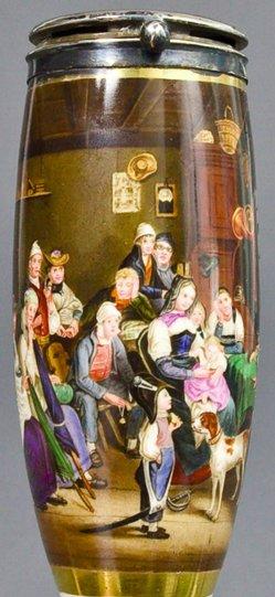 Johann Baptist Kirner (1806-1866), Der Schweizer Grenadier, Porzellanmalerei, Pfeifenkop