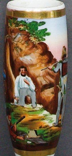 Ludwig Lindenschmit (1809-1895), Erschießung Robert Blums, Porzellanmalerei, Pfeifenkopf, B0013