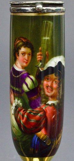 Rembrandt Harmensz van Rijn (1606-1669), Gleichnis verlorener Sohn, Porzellanmalerei, Pfeifenkopf, B0102