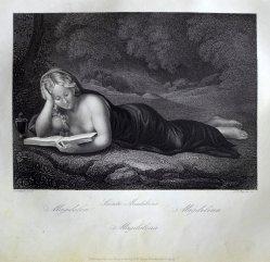 "Albert Henry Payne (1812-1902), Stahlstich, ""Magdalena"" nach Correggio, D1611-72"