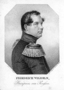 Auguste Hüssener (1789-1877), Kupferstich, Friedrich Wilhelm IV, nach Fr. Krüger, A0094