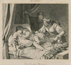 Gustav Lüderitz (1803-1884), Die Söhne Eduards IV, nach Hildebrand, Kupferstich, A0097