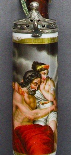 Johann Nepomuk Ender (1793-1854), Weiberlist, Porzellanmalerei, Pfeifenkopf, B0175