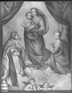Meißen 94 Sixtinische Madonna, nach Raffael, Lithophanie