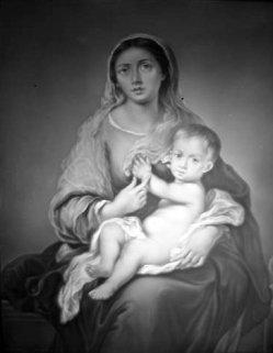 PPM 434 Madonna mit dem Kinde, nach Murillo, Lithophanie