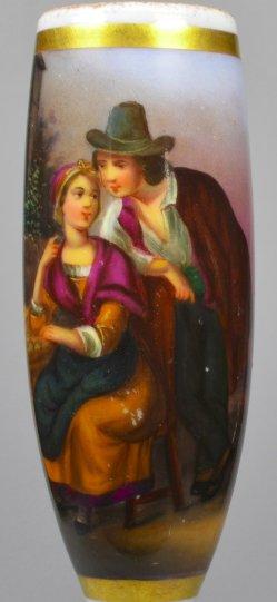 Vertrauliches Gespräch, Porzellanmalerei, Pfeifenkopf, D1145