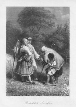 """William French (1815–1898), Stahlstich, """"Bedenkliche Aussichten"""", nach J. Wild, D2064"""