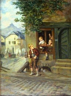 Carl Ehrenberg (1840-1914), Die Schulschwänzer, D1999